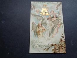 Anges ( 205 )   Ange   Engelen Engel   - Carte Gaufrée  Reliëf - Anges