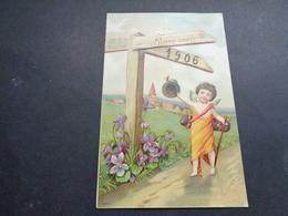 Ange ( 208 )  Angelot Engel   - Carte Gaufrée  Reliëf  -  Année 1906 - Anges