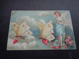 Ange ( 210 )  Angelot Engel   - Carte Gaufrée  Reliëf - Anges
