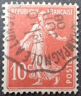 R1631/2212 - TYPE SEMEUSE CAMEE - N°138 ☉ SUPERBE Cachet CONVOYEUR : CHAMPAGNOLE à LONS LE SAUNIER - 10 JUILLET 1908 - 1906-38 Semeuse Camée