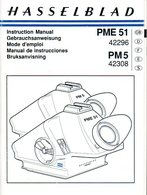 Mode D'emploi Hasselblad Viseurs à Prisme PME 51 Et PM 5 - Photographie
