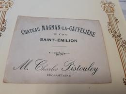 RARE Vieille étiquette St-EMILION 1er CRU Château MAGNAN-LA-GAFFELIERE - Bordeaux