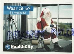 """Publicité En Néerlandais Pour Le Centre De Fitness """"Health City"""". Père Noël. Carte Boomerang - Santé"""
