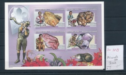 Madagaskar - Minerale  Block      **    ( Zu3073  ) Siehe Scan - Mineralien