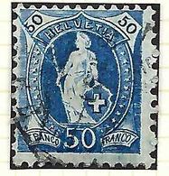 SUISSE `Helvétie Debout':   Le ZNr. 70D Oblitéré   B à TTB - Used Stamps