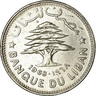 Monnaie, Lebanon, 50 Piastres, 1968, TTB, Nickel, KM:28.1 - Liban
