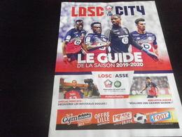 Programme Ligue 1 2019 2020 - LILLE LOSC - ASSE SAINT ETIENNE - Uniformes Recordatorios & Misc