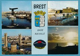 BREST - Base Navale - Multivues Blason - Brest