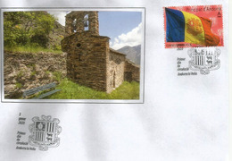 Bandera D'Andorra /Drapeau D'Andorre. (Poder és Més Fort) Nouveau Timbre &  FDC 2020 - Briefe