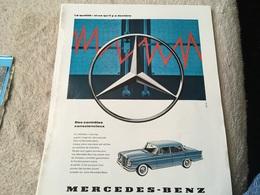 Lot De Publicités - Auto - Mercedes-Benz - 1958 - - Publicités