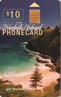 ILE NORFOLK  -  Chipcard  -  Norfolk Telecom  -  Anson Bay  -  $10 - Norfolk Island
