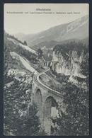 CP,  Albulabahn, Schmittentobel Und Landwasser Viaduct U. Bahnlinie Nach Davos, Suisse, Switzerland, Helvetia - GR Grisons