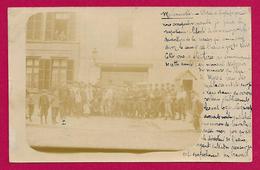 Carte Photo Lens - Les Grèves En 1906 - L'Entrée De L'Usine à Gaz - Lens