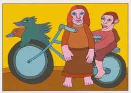 Cpm 1741/517 ERGON - Femme Et Enfant à Bicyclette  - Vélo - Cyclisme - Bicycle - Cycle - Illustrateurs - Illustrateur - Ergon