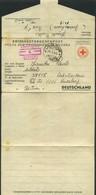 1944 Prigionieri Di Guerra Lettera Croce Rossa Per La Germania Stammlager XII D Completa Testo - 4. 1944-45 Repubblica Sociale