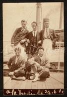 Photo Ancien / Foto / Gay Interest / Handsome Men / Beaux Hommes / On A Ship / Sur Un Bateau / Size: 5.50 X 8.40 Cm. - Personnes Anonymes