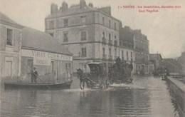 CPA (44) NANTES Les Inondations 1910 Quai Magellan Attelage Diligence  (R.V)  D 19 - Nantes