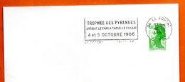 08 LE FOSSAT   TROPHEE DES PYRENEES  1986 Lettre Entière N° CD 473 - Mechanical Postmarks (Advertisement)