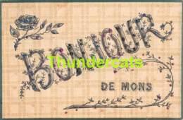 CPA MONS BONJOUR DE DE - Mons