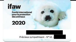 Carte De Membre Sympathisant IFAW 2020. (Voir Commentaires) - Andere Sammlungen