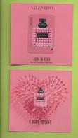VALENTINO * BORN IN ROMA + 2 PATCH * V/R  9 X 9 Cm - Cartoline Profumate