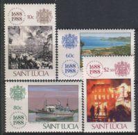 SAINTE-LUCIE ( POSTE ) Y&T N°  905/908  TIMBRES  NEUFS  SANS  TRACE  DE  CHARNIERE , A VOIR . - St.Lucie (1979-...)
