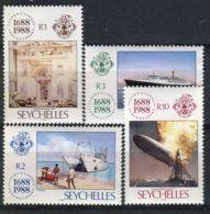 SEYCHELLES ( POSTE ) Y&T N°  661/664  TIMBRES  NEUFS  SANS  TRACE  DE  CHARNIERE , A VOIR . - Seychelles (1976-...)