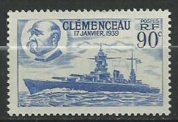 """FR YT 425 """" Cuirassé Le Clémenceau """" 1939 Neuf** - Nuevos"""