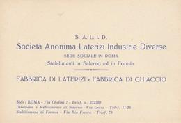 S.A.L.I.D. SOCIETA' ANONIMA LATERIZI INDUSTRIE DIVERSE. Stabilimenti In Salerno Ed In Formia - Cartoncini Da Visita