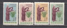 Vietnam 1970 - Edition Of The Vietcong-80th Birthday Of Ho Chi Minh , Mi-Nr. 27-30, MNH** - Viêt-Nam