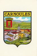 CPSM  83 CARNOULES  BLASON ADHESIF - Francia