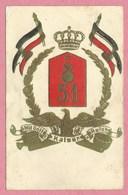 67 - STRASSBURG - STRASBOURG - Regimentskarte - Carte De Régiment - Feld. Artil. Reg. 51- Artillerie Kaserne - Strasbourg