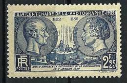 """FR YT 427 """" Centenaire De La Photographie """" 1939 Neuf** - Nuevos"""