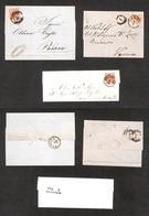 ANTICHI STATI ITALIANI - LOMBARDO VENETO - 1852/1857 - Tre Lettere Col 15 Cent (6/20) - Ottima Qualità - Non Classificati