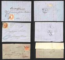 ANTICHI STATI ITALIANI - LOMBARDO VENETO - 1856/1862 - Insieme Di Tre Letterine - 2 Affrancate Con 15 Cent (20) E 1 Con  - Non Classificati