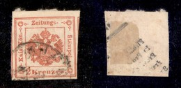 ANTICHI STATI ITALIANI - LOMBARDO VENETO - 1858 - 2 Kreuzer (3) - Parte Di Due Vicini Ai Lati (120+) - Non Classificati