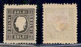 ANTICHI STATI ITALIANI - LOMBARDO VENETO - Ristampa Del 1866 - 3 Soldi (R7) Dentellato 12 - Gomma Originale (425) - Non Classificati