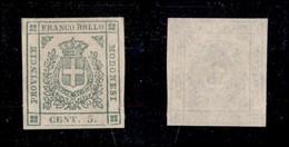 ANTICHI STATI ITALIANI - MODENA - 1859 - 5 Cent (12) - Senza Gomma - Molto Bello (600) - Non Classificati