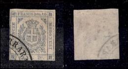 ANTICHI STATI ITALIANI - MODENA - 1859 - 20 Cent (15c) Con Doppia Stampa Completa - Appena Corto In Basso - Molto Raro - - Non Classificati
