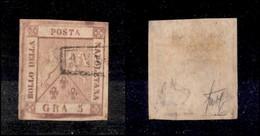 ANTICHI STATI ITALIANI - NAPOLI - 1858 - 5 Grana (8e) - Doppia Incisione - Molto Bello - Cert. Wolf (180) - Non Classificati