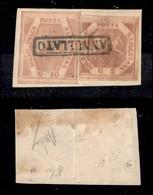 ANTICHI STATI ITALIANI - NAPOLI - 1858 - 10 Grana (11) Ben Marginato + 2 Grana (5) Corto A Sinistra - Non Classificati