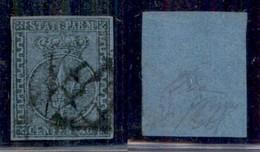 ANTICHI STATI ITALIANI - PARMA - 1852 - 40 Cent (5c) Con Greche Di Destra Più Larghe - Usato - Cert Diena (2750) - Non Classificati