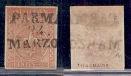 ANTICHI STATI ITALIANI - PARMA - 1853 - 15 Cent (7) - Parma 24 Marzo - Ben Marginato - Diena (700) - Non Classificati