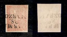 ANTICHI STATI ITALIANI - PARMA - 1853 - 15 Cent (7) - Stampa Povera - Lieve Abrasione Sulla Corona (600) - Non Classificati