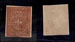 ANTICHI STATI ITALIANI - PARMA - 1855 - 25 Cent (8) Molto Inchiostrato E Oleoso - Ottimi Margini E Annullo Leggero - Mol - Non Classificati