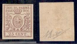 ANTICHI STATI ITALIANI - PARMA - 1857 - 25 Cent (10) - Gomma Originale - Molto Bello - Diena + Raybaudi (1500) - Non Classificati