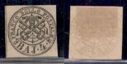 ANTICHI STATI ITALIANI - PONTIFICIO - 1852 - 4 Baj (5) Con Stampa Oleosa - Senza Gomma - Non Classificati