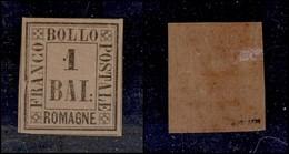 ANTICHI STATI ITALIANI - ROMAGNE - 1859 - 1 Bai (2) - Cornice Rotta A Sinistra (100+) - Non Classificati