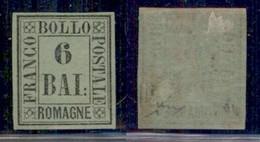 ANTICHI STATI ITALIANI - ROMAGNE - 1859 - 6 Bai (7) - Gomma Originale - Chiavarello (900) - Non Classificati