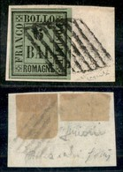 ANTICHI STATI ITALIANI - ROMAGNE - 1859 - 6 Bai (7) Usato Su Frammento - Cert. Raybaudi (19.500) - Non Classificati
